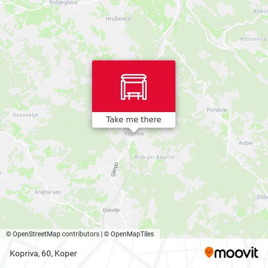 Kopriva, 60 map