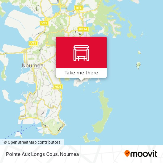Pointe Aux Longs Cous map