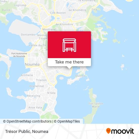Trésor Public map