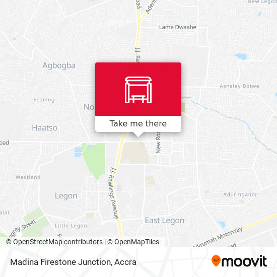 Madina Firestone Junction map