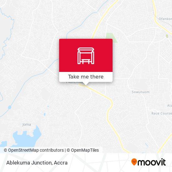 Ablekuma Junction map