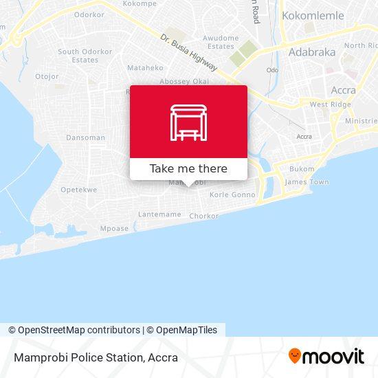 Mamprobi Police Station map