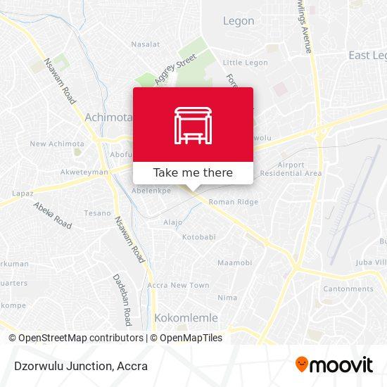 Dzorwulu Junction map