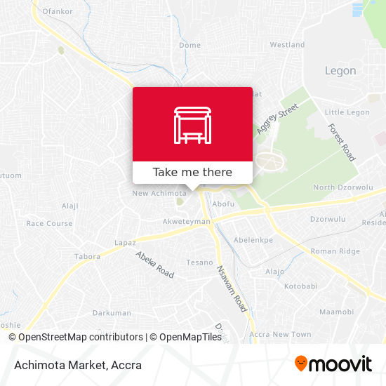 Achimota Market map