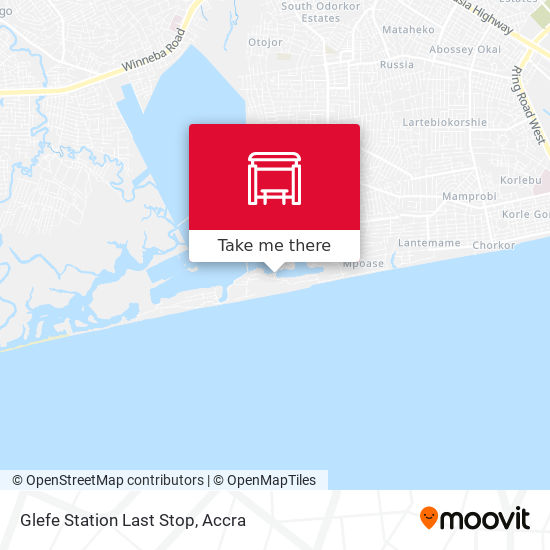 Glefe Station Last Stop map