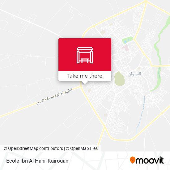 Ecole Ibn Al Hani plan