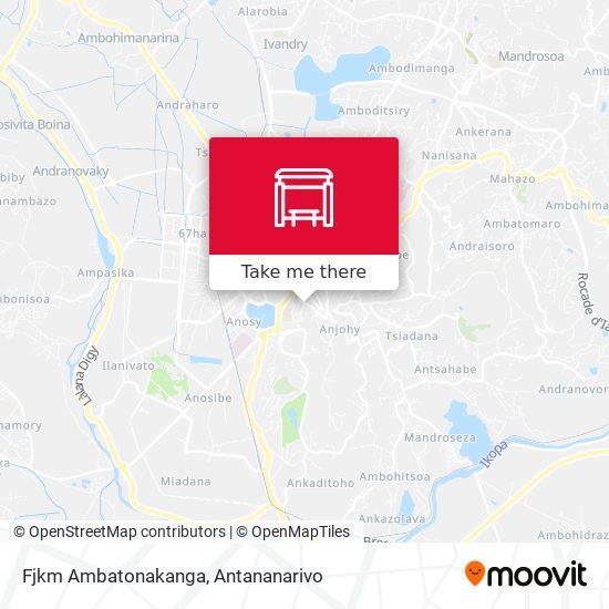 Fjkm Ambatonakanga map