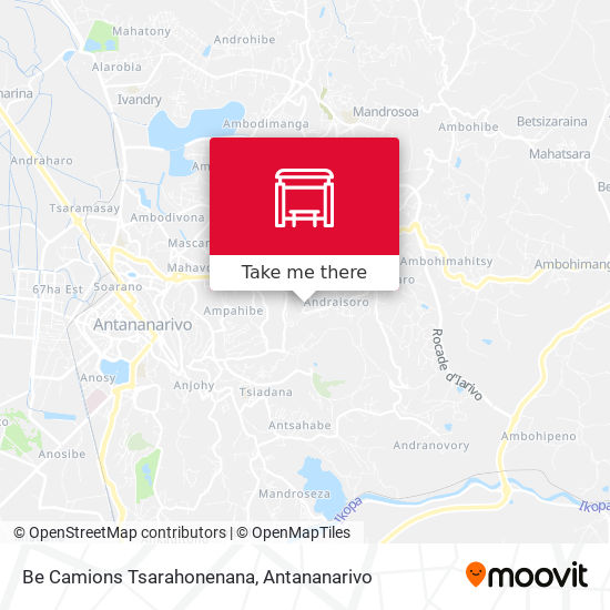 Be Camions Tsarahonenana map