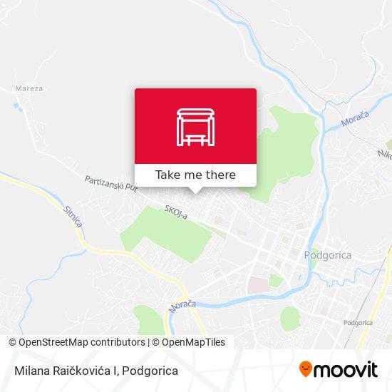 Milana Raičkovića I map