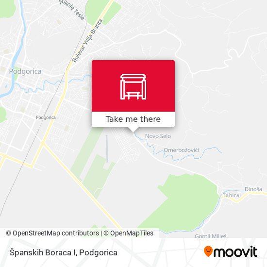 Španskih Boraca I map
