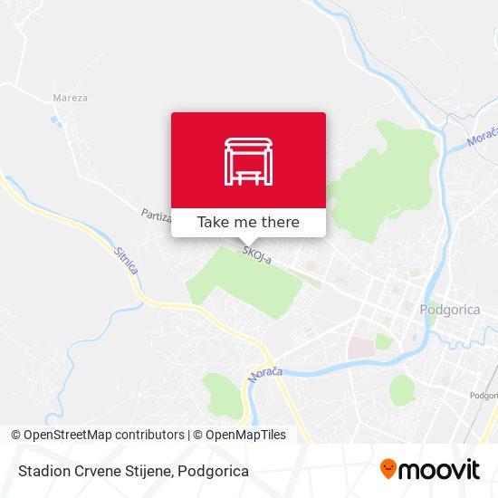 Stadion Crvene Stijene map