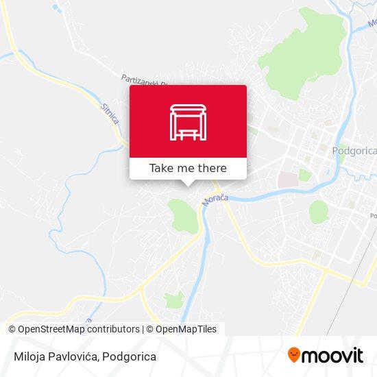Miloja Pavlovića map