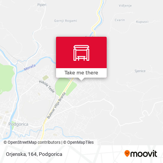 Orjenska, 164 map