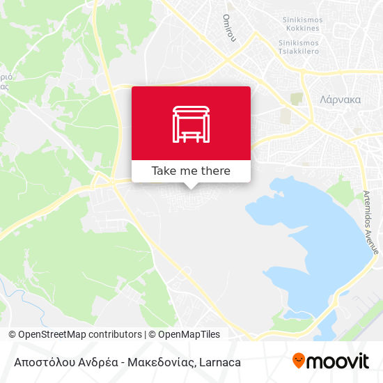 Αποστόλου Ανδρέα - Μακεδονίας map