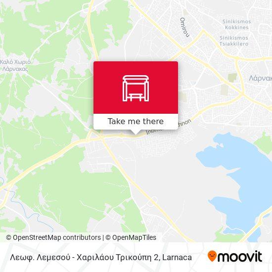 Λεωφ. Λεμεσού - Χαριλάου Τρικούπη 2 map