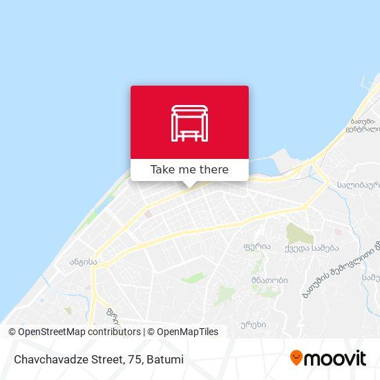Chavchavadze Street, 75 map