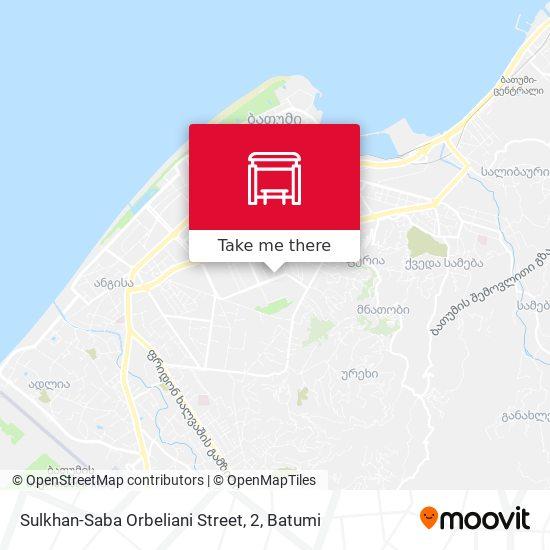 Sulkhan-Saba Orbeliani Street, 2 map