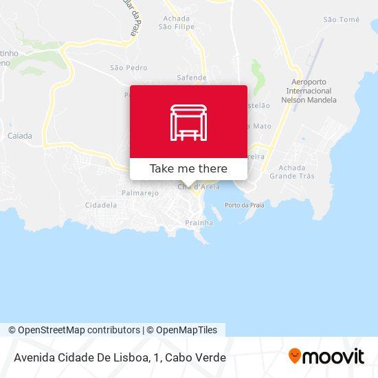 Avenida Cidade De Lisboa, 1 mapa