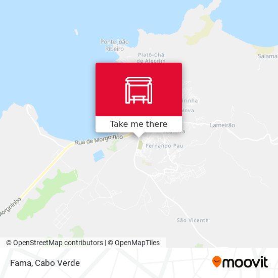 Fama mapa
