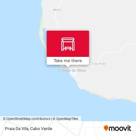 Praia Da Vila mapa
