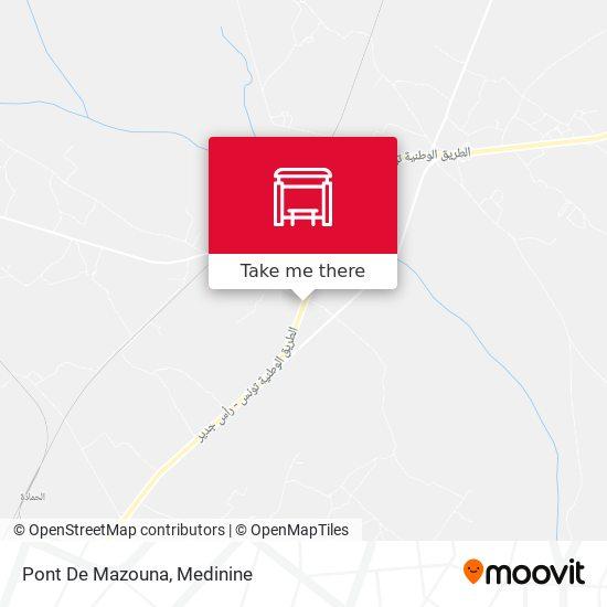 Pont De Mazouna plan