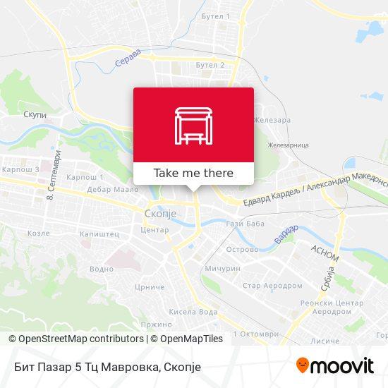 Бит Пазар 5 Тц Мавровка map