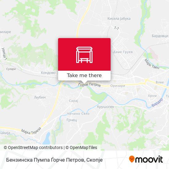 Бензинска Пумпа Ѓорче Петров map