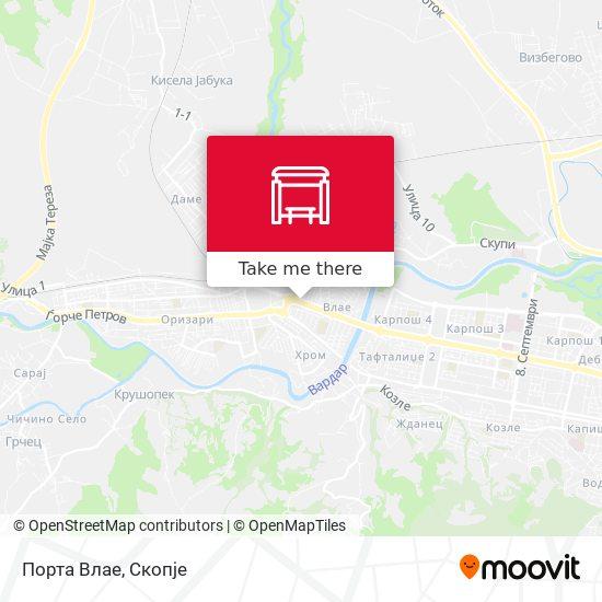 Порта Влае map