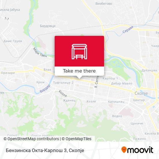 Бензинска Окта-Карпош 3 map