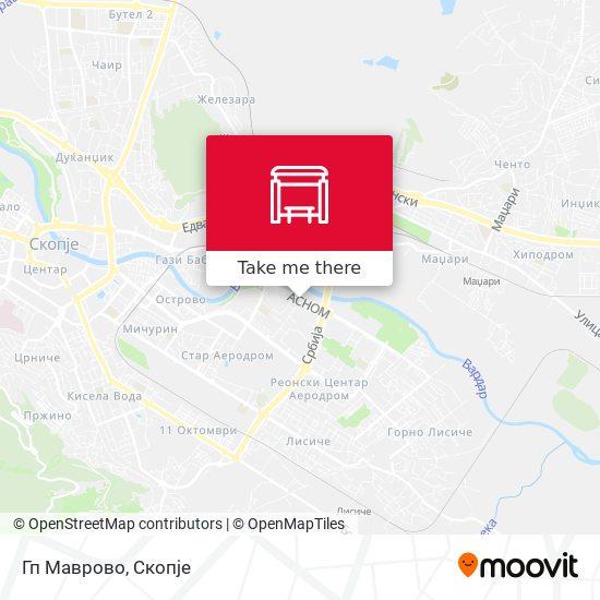 Гп Маврово map