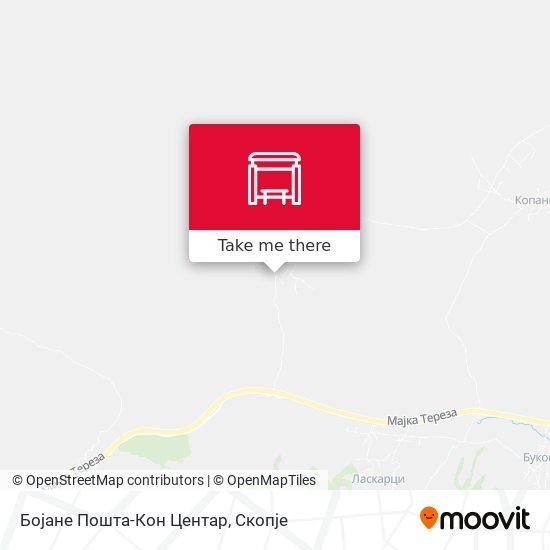 Бојане Пошта-Кон Центар map