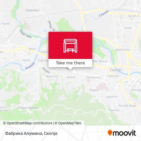Фабрика Алумина map
