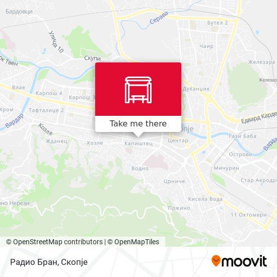Радио Бран map