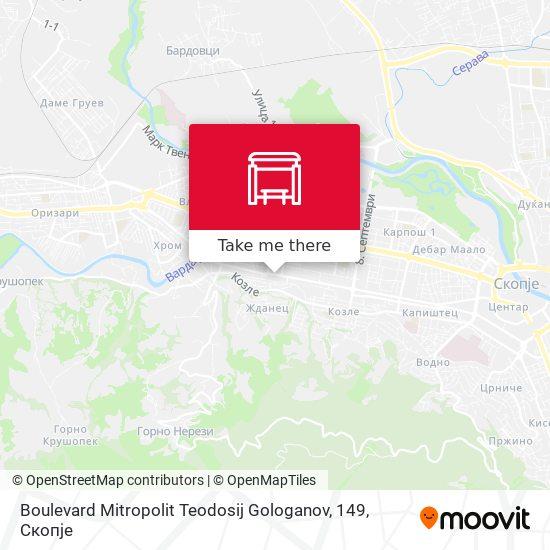 Boulevard Mitropolit Teodosij Gologanov, 149 map
