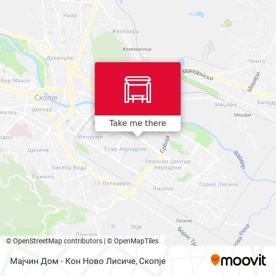 Мајчин Дом - Кон Ново Лисиче map