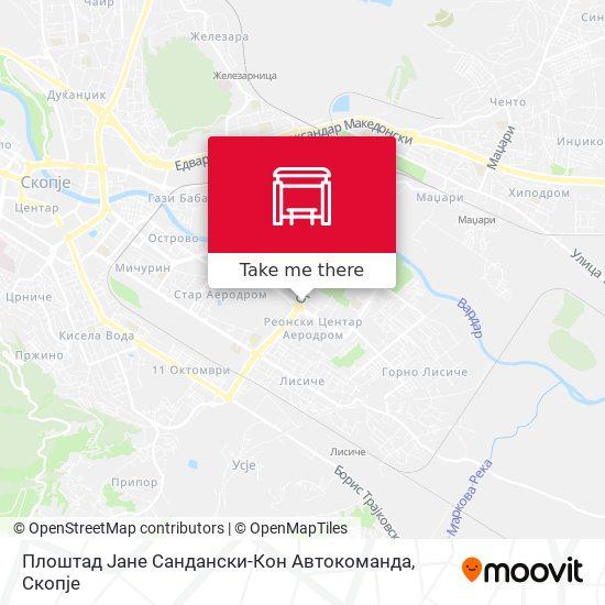 Плоштад Јане Сандански-Кон Автокоманда map