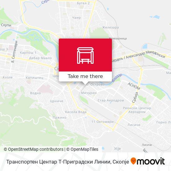 Транспортен Центар Т-Приградски Линии map