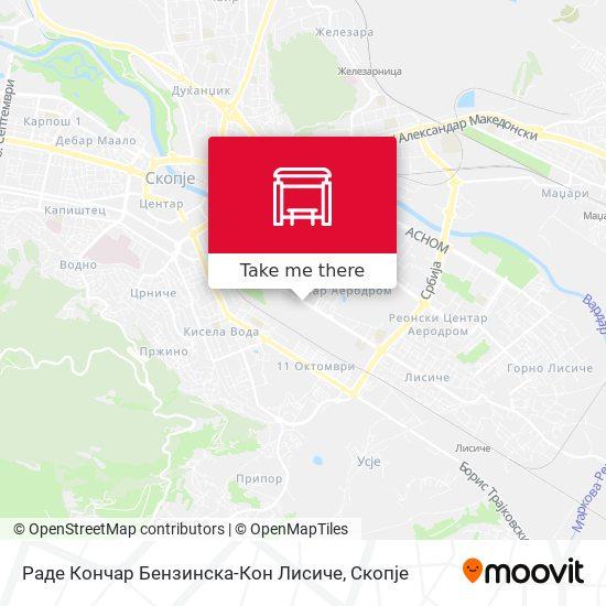 Раде Кончар Бензинска-Кон Лисиче map