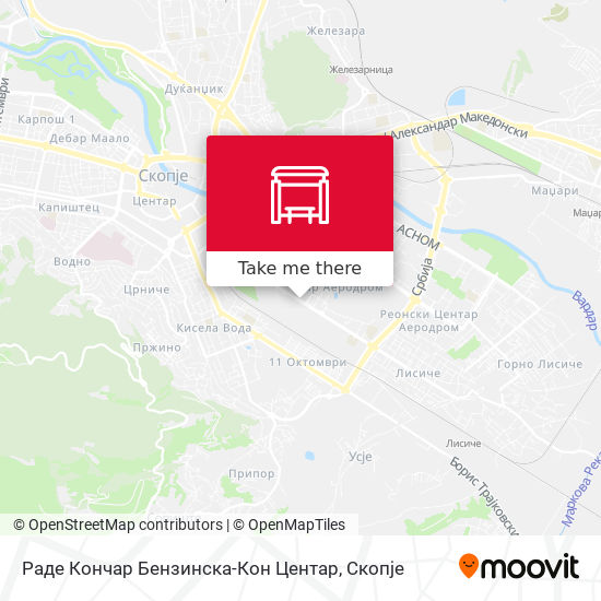Раде Кончар Бензинска-Кон Центар map