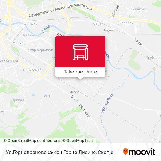 Ул.Горноврановска-Кон Горно Лисиче map