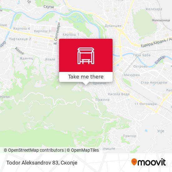 Todor Aleksandrov 83 map