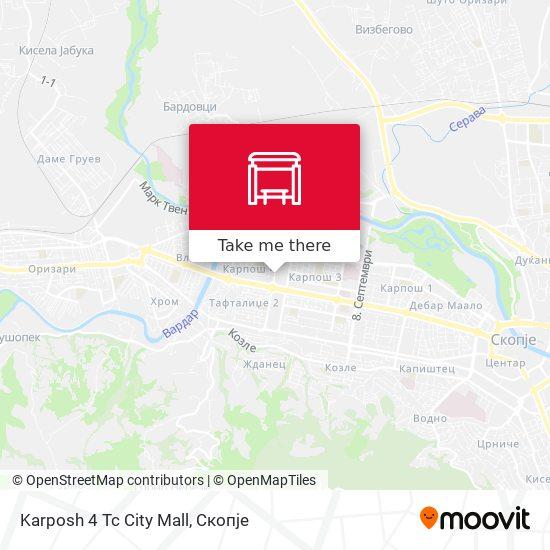 Karposh 4 Tc City Mall map