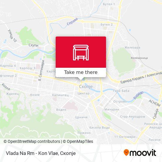 Vlada Na Rm - Kon Vlae map