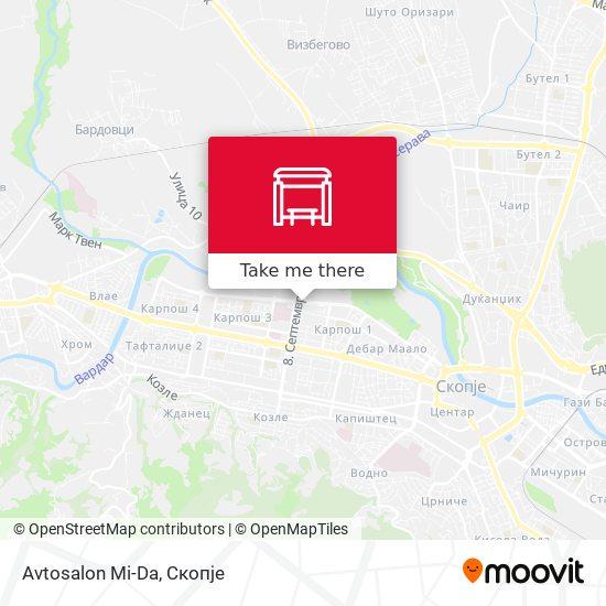 Avtosalon Mi-Da map