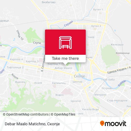 Debar Maalo Matichno map