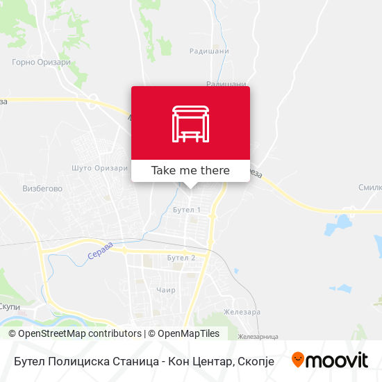 Бутел Полициска Станица - Кон Центар map