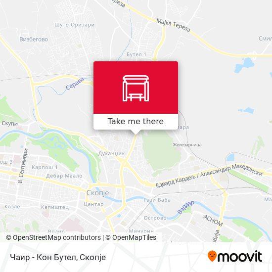 Чаир - Кон Бутел map