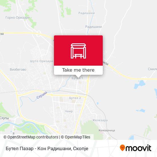 Бутел Пазар - Кон Радишани map