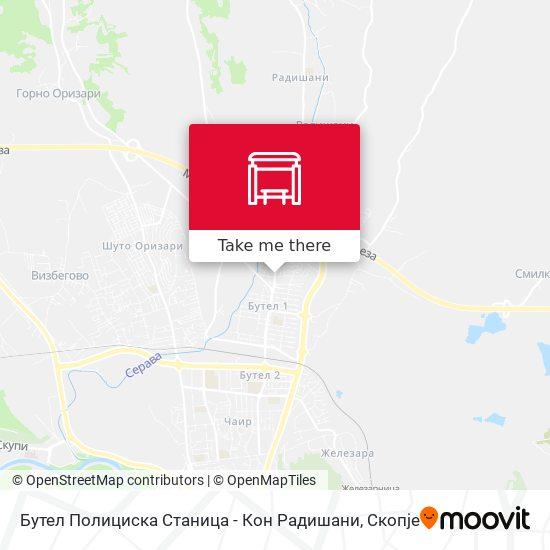 Бутел Полициска Станица - Кон Радишани map