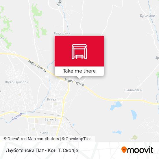 Љуботенски Пат - Кон Т map